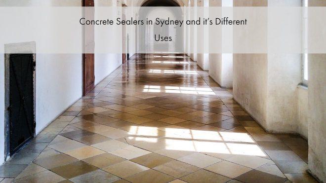 Concrete Sealer in Sydney